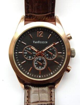 Van Heusen by Accutime мужские часы из Сша кожа механизм Japan SII