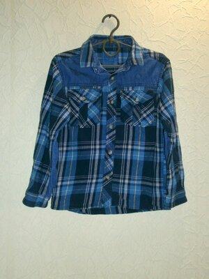 Рубашка теплая для мальчика 7-8лет