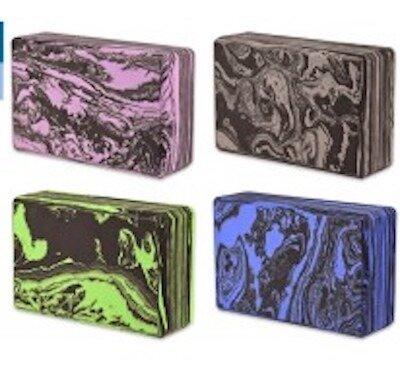 Блок для йоги C332 с узором Мрамор, 4 цвета, размер 22.5 15 7.5 см
