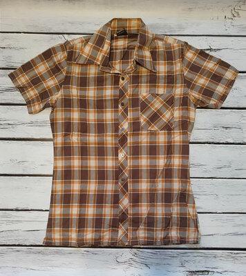 Сорочка рубашка в клетку клеточку короткий рукав