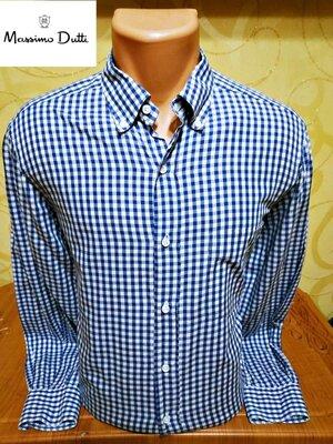 хлопковая мужская рубашка в клетку Massimo Dutti, р.L