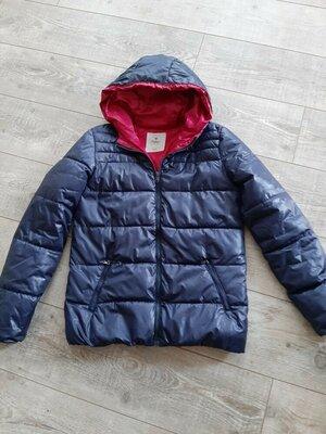 Демисезонная дутая стеганная куртка с капюшоном куртка пуффер дутик Colin's/H&M/ZARA/Mango p.S - M