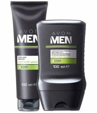 Набір Мякий догляд для чоловіків для чутливої шкіри Эйвон Avon гель, бальзам після гоління