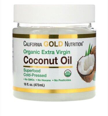 Органическое холоднопрессованное кокосовое масло экстра классаотCalifornia Gold Nutrition®