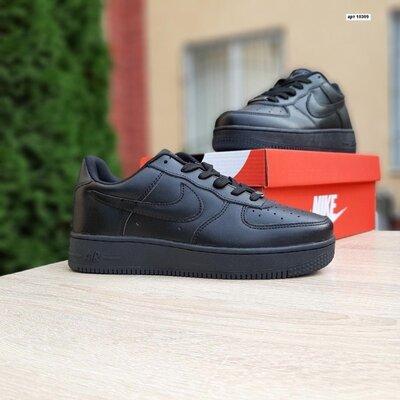 Мужские кроссовки Nike Air Force Чёрные низкие