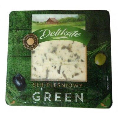 Сыр с плесенью Delikate Green, 100гр Польша