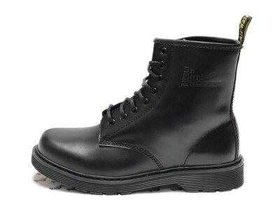 Черные мужские демисезонные ботинки dr. martens