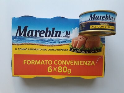 Тунец Tonno Mareblu в оливковом масле 6х80г, Италия