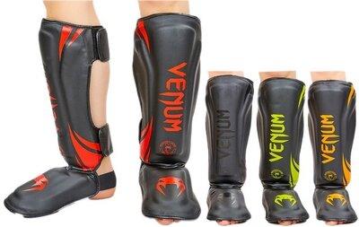 Защита для голени и стопы муай тай/ММА/кикбоксинг Vemun 8356 PU, размер M-XL 4 цвета