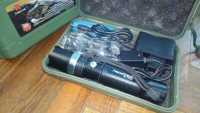Ліхтар акумуляторний тактичний X-Balog BL-T8628 zoom фонарик тактический