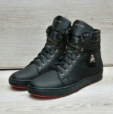 Мужские зимние ботинки PHILIPP PLEIN кожа
