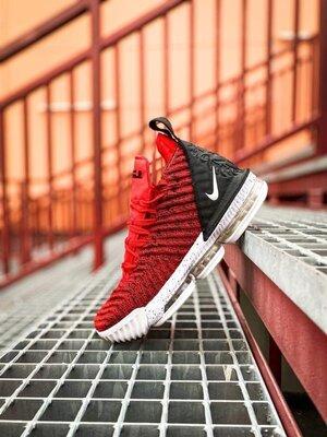 Красные мужские кроссовки nike lebron 16 red white/red/black