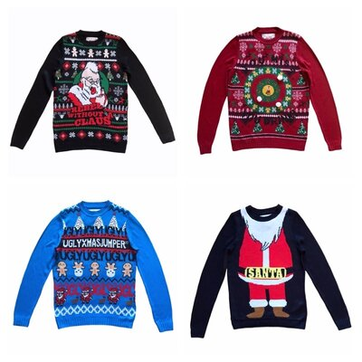 Новый Рождественский, новогодний мужской джемпер свитер, полувер c&a