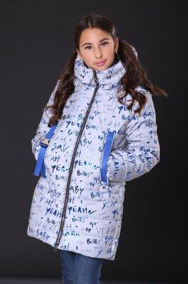 Куртка-Парка зимняя светоотражающая, рефлекторная для девочек от 134 до 158 р- тренд сезона 2020