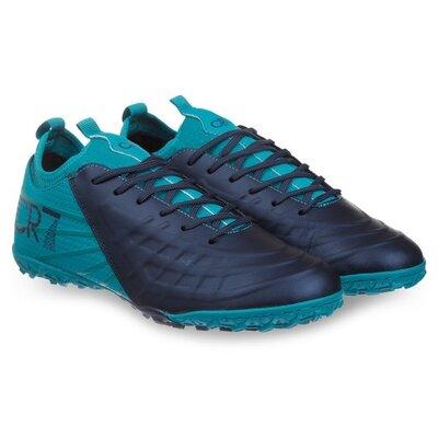Обувь футбольная сороконожки CR7 190711 многошиповки размер 45 сине-мятный