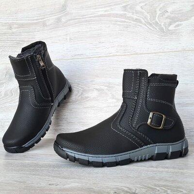 Ботинки мужские зимние на молнию утепленные Кла-36Чср