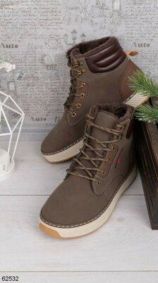 Мужские коричневые ботинки Зима