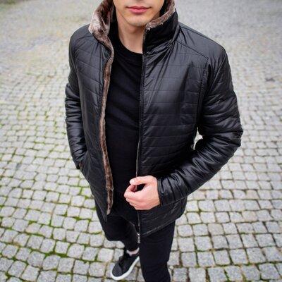 Зимняя куртка Авиатор классик черная .