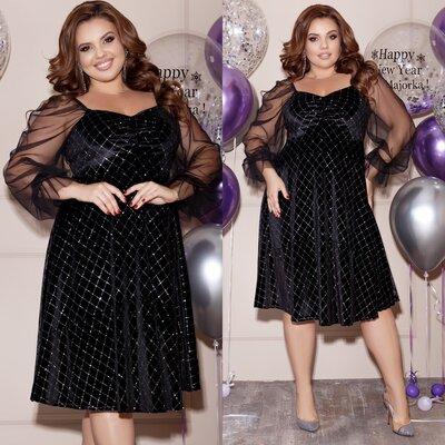 Женское черное вечернее пышное платье до колен женские пышные вечерние праздничные платья с рукавом