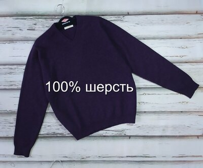 Мужской шерстяной свитер джемпер William Lockie Шотландия p M-L