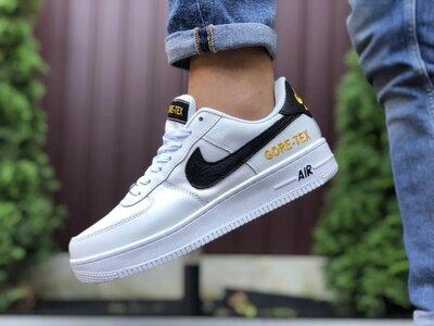 Активные мужские кроссовки Nike Air Force Gore-Tex,белые с черным