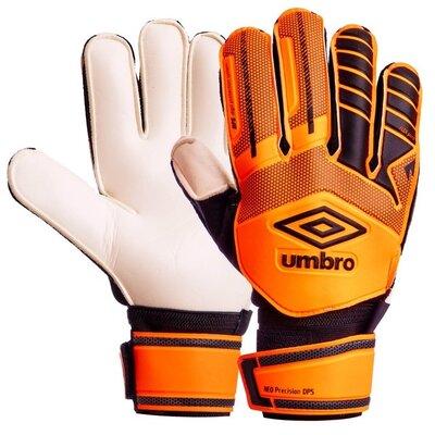 Продано: Перчатки вратарские с защитными вставками на пальцами Umbro FB-879 размер 10 Orange/Black