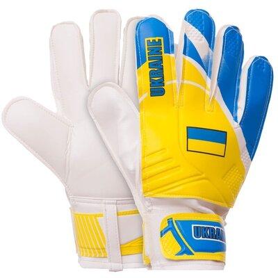 Перчатки вратарские Украина Ukraine 0187-4 размер 10 Yellow/Blue