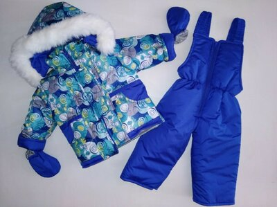 Продано: Зимний комплект для мальчика, 74-80-86 см, зимняя куртка и полукомбинезон зима, 6-9-12-18 месяцев.
