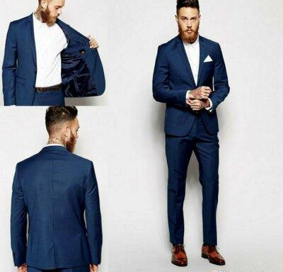 Продано: Темно синий мужской костюм