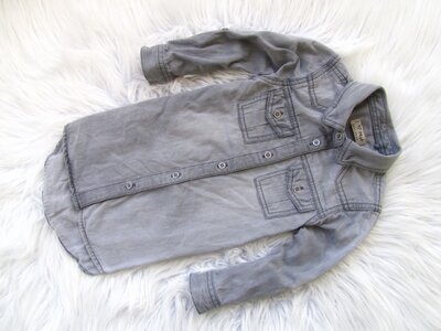 Качественная джинсовая рубашка туника платье Next
