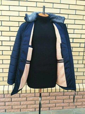 Зимняя мужская куртка на меху хаки черный синий 50 52 54 56 58 60 62