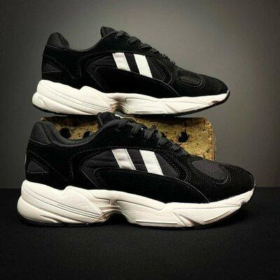Мужские замшевые кроссовки black - white
