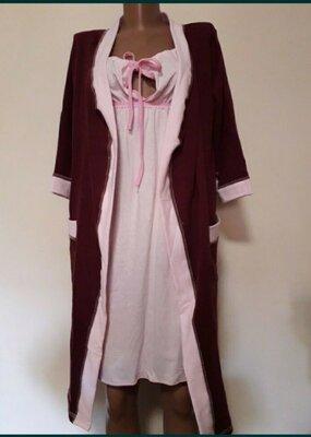 Продано: Комплект ночная с теплым халатом Виола .
