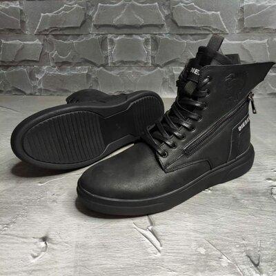 Мужские зимние кожаные ботинки DIESEL