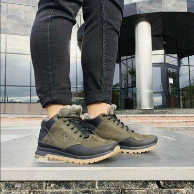 Продано: Ботинки кожаные мужские хаки New Balance
