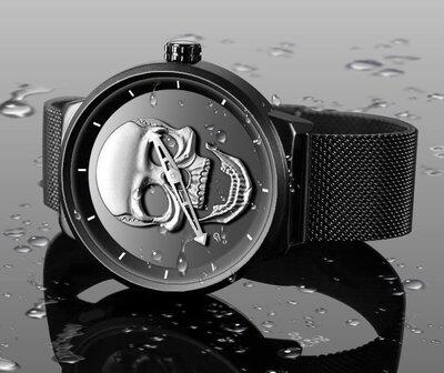 Мужские наручные часы в стиле Philipp Plein черные