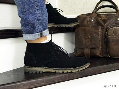 Vankristi мужские туфли на зиму черные 9991