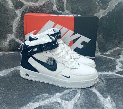 Продано: Мужские зимние кроссовки Nike Air Force Winter кожаные,черные.белые,с мехом
