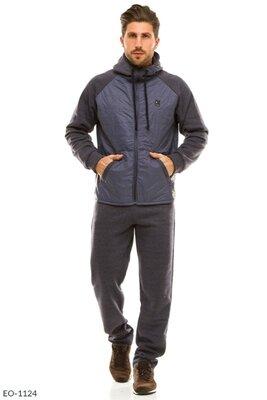 Мужской спортивный костюм ткань плащевка/трехнить на флисе производства турции