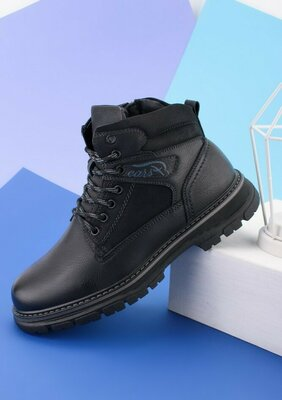 Мужские черные ботинки Зима