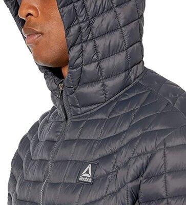 Демисезонная стеганая куртка с капюшоном Reebok, р. - XL 54-56