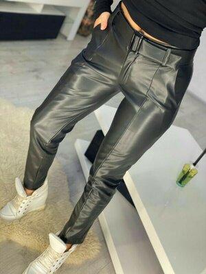 женские брюки эко-кожа безупречная посадка 42-48р