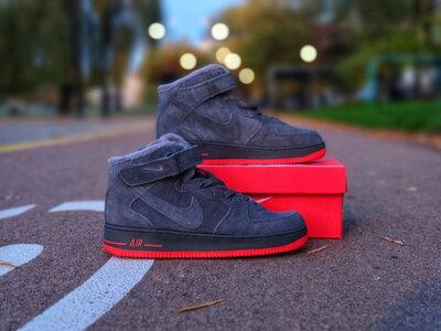 Nike Air Force Winter Grey Мех