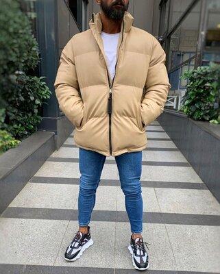 Куртка из плотной эко кожи на холлофайбере, 3 цвета