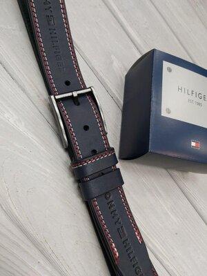 Ремень мужской кожаный в стиле Tommy Hilfiger Томми Хилфигер
