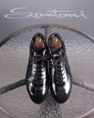 Сникерсы Santoni for AMG, Италия 43 мужские кроссовки хайтопы оригинал кожа кеды
