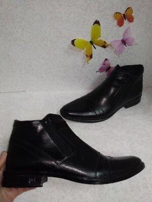 Кожаные зимние мужские ботинки Flamanti Фламанти