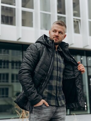 Чоловіча зимова куртка Мужская одежда