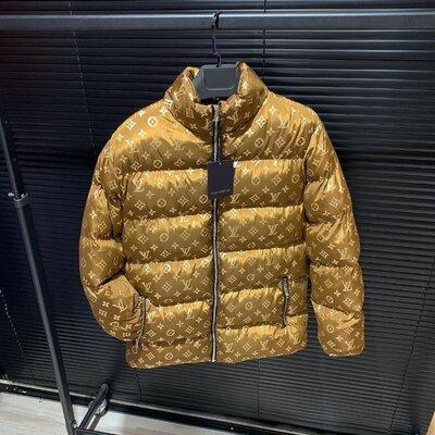 Брендовый пуховик Louis Vuitton коричневый