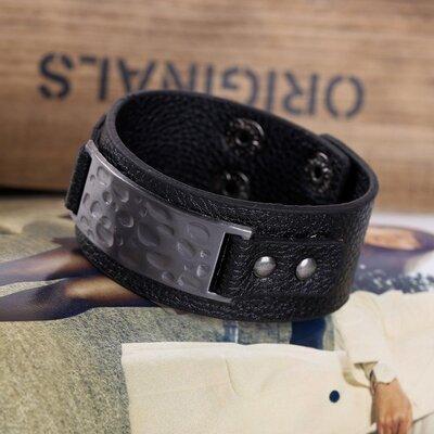 Продано: Браслет - манжет «Европейский стиль» 205 для байкеров и панк-рокеров